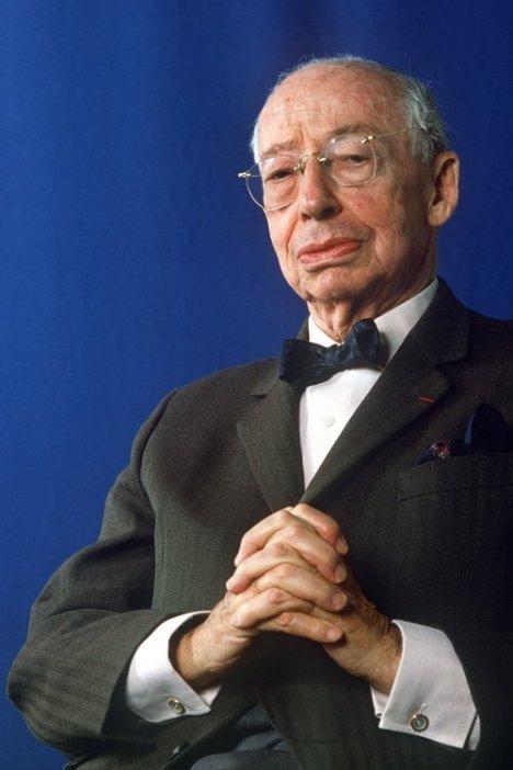 Der Börsenexperte und Buchautor Andre Kostolany, aufgenommen im Oktober 1989 anlässlich der Internationalen Buchmesse in Frankfurt am Main.
