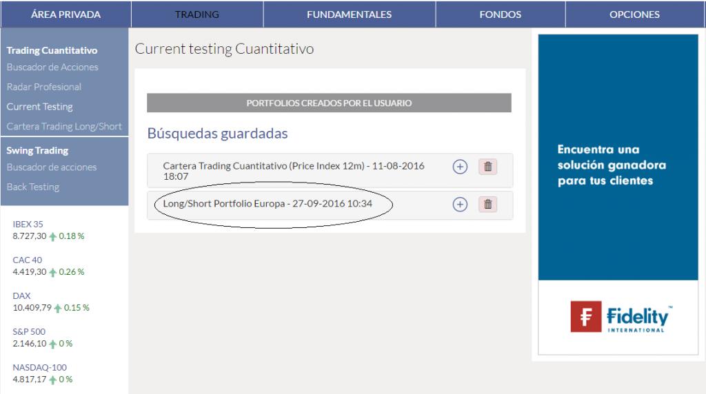 KAU+ Profesional - Buscador de acciones cuantitativo - Guardar Current-Testing