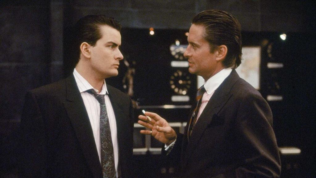 Wall Street (1987) - Michael Douglas y Charlie Sheen.