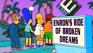 """El caso """"Enron"""" aparece en los Simpsons."""