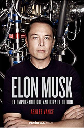 Elon Musk (portada del libro de Ashlee Vance)