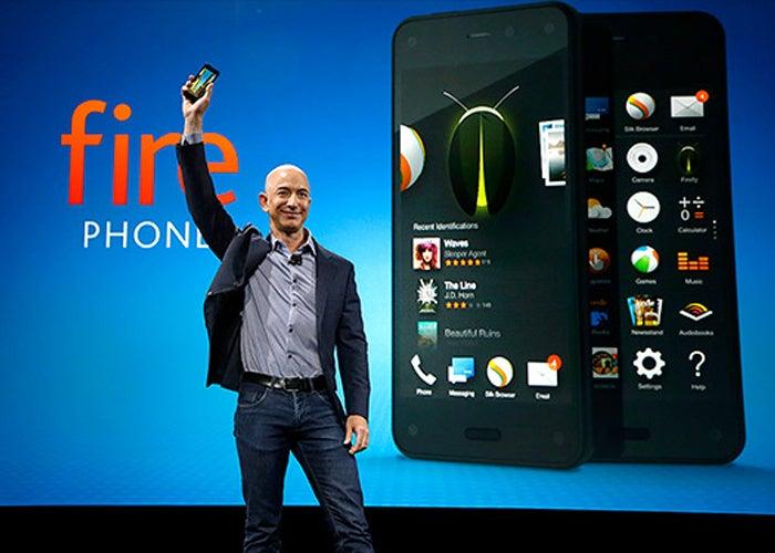 Jeff Bezos presentando el Amazon Fire Phone
