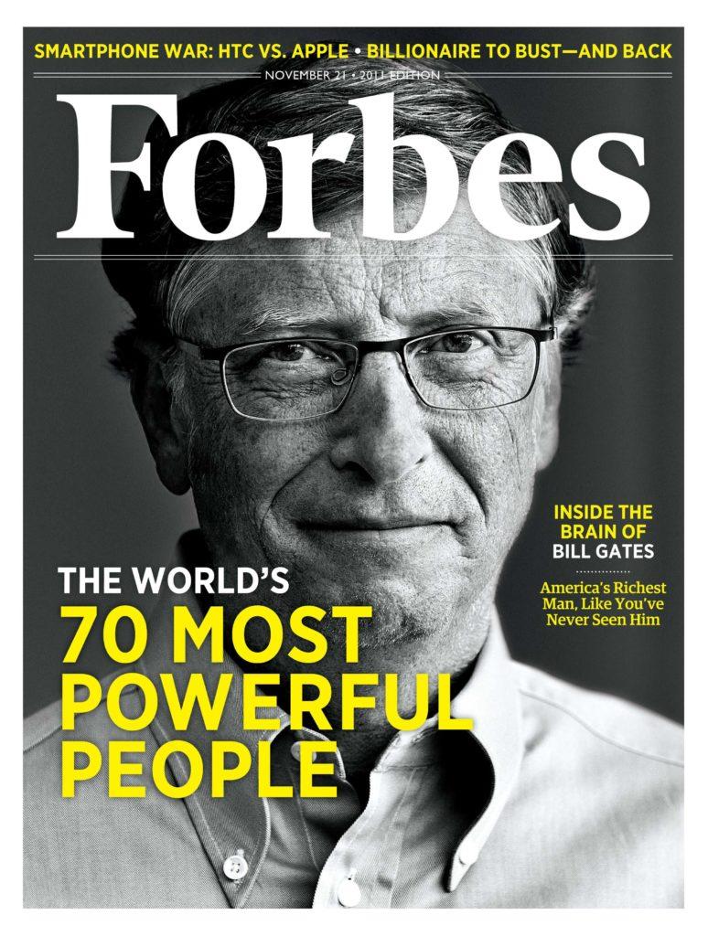 Bill Gates portada de Forbes 21/11/2011