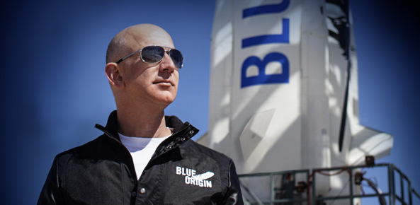 Leff Bezos y Blue Origin