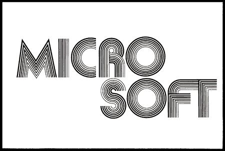 Microsoft, logotipo primigenio año 1975