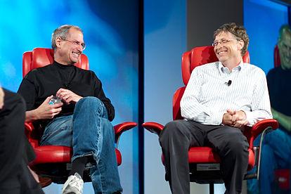 Bill Gates y Steve Jobs