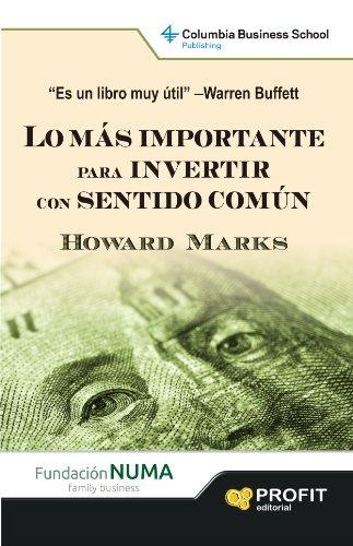 Portada del libro 'Lo más importante para invertir con sentido común'