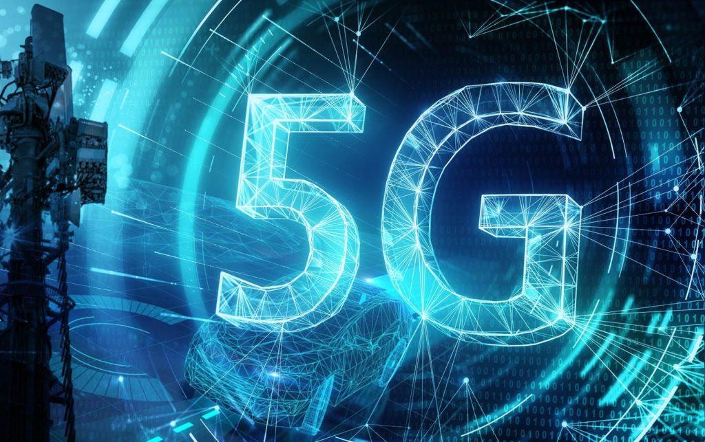 Icono 5G grande y azul