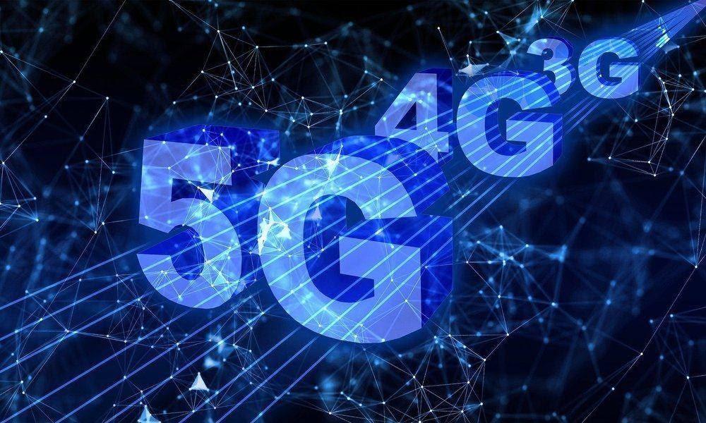 Iconos de 5G, 4G y 3G
