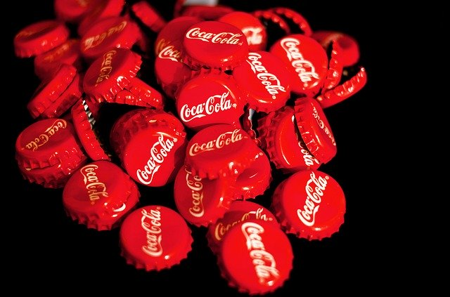 Chapas de Coca Cola.
