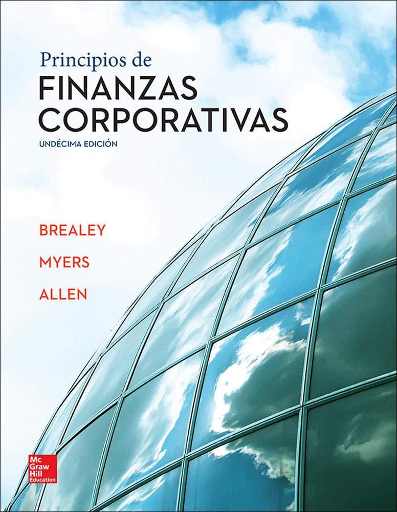 Portada del libro: Principios de finanzas corporativas