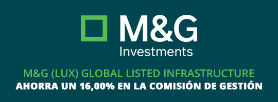 Ahorra 16% en la comisión de gestión del fondo Global Listed Infrastructure Fund A EUR Acc de M&G Investments
