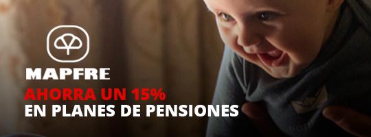 Ahorra un 15% en planes de pensiones con Mapfre