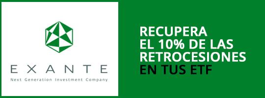 Recupera el 10% de las retrocesiones en tus ETF con Exante