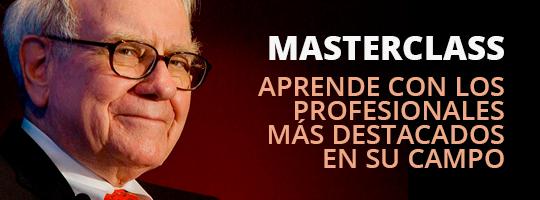 Masterclass. Aprende con los profesionales más destacados en su campo
