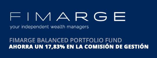 Ahorra un 17,83% en la comisión de gestión del fondo Fimarge Balanced Portfolio Fund