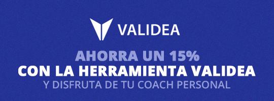 Ahorra un 15% en la herramienta Validea